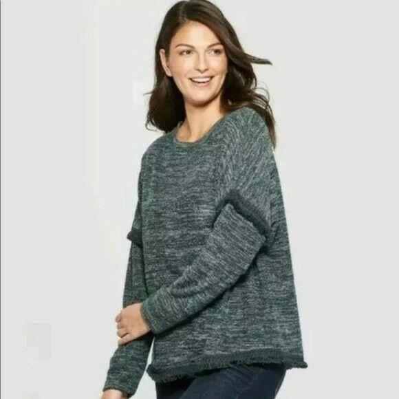 Knox Rose Oversized Sweater Fringe Hem